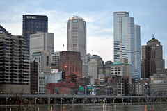 Downtown Pittsburgh Skyline, March 2015 (evz922) Tags: city urban usa tower skyline architecture buildings river corporate one design us office high highway downtown pittsburgh skyscrapers pennsylvania steel grant bank headquarters center pa oxford mon rise mellon citizens density monongahela burgh firstside 376 bny upmc