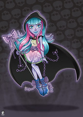 River Styxx (FurJay) Tags: art fashion monster illustration river toys fan high doll grim reaper drawing ghost freaky haunted mh mattel styxx monsterhigh