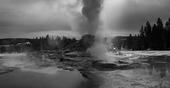 Castle Geyser (Adam Isaac Photography) Tags: mountain mountains nature fountain beautiful beauty canon landscape volcano nationalpark steam yellowstone geology wilderness geyser volcanic geothermal epic explosive ynp aih 2015 castlegeyser 60d canon60d aihphotography adamisaacphotography