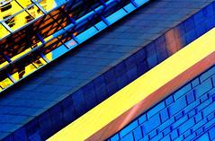 You Build'em, We'll Knock'em Down (Book'em) Tags: windows abstract color colour geometric lines architecture buildings nikon geometry saturation materials d800 galss