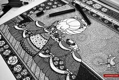 interiores (Anita Mejia) Tags: black illustration pen ink paper mexico anitamejia