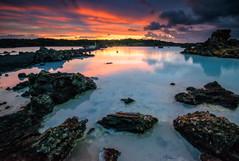 Blue Lagoon Sunset (Marco.nl) Tags: sunset iceland bluelagoon formatthitechfilter 09reverseneutraldensitygradueated