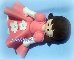 Boneca Princesa Menina (Mnica Pintando7) Tags: feltro boneca princesa festa lembrancinha pintando7
