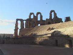 Inside the Roman Amphitheater in Mahdia