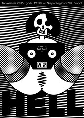 VHS_HELL_Maurycy_Poster_OK (VonMurr) Tags: illustration poster skull vector maurycygomulicki