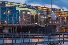 Industrial shoreline (farflungistan) Tags: amsterdam canon7d holland ij ijburg ijmeer longexposure marina muziekbouw nederland netherlands nightphotography summer2016 sunset toren photowalk