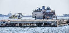 Ferry Leaving Manhattan (PAJ880) Tags: new york nyc ny ferry island harbor manhattan si lower staten heliport