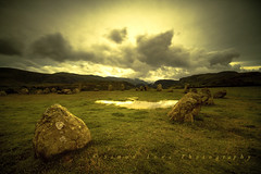a pagan place (~Ventnor~) Tags: castlerigg stone circle age prehistoric english heritage keswick cumbria england lakedistrict lake district national park parks uk cumbrian landscape landscapes cloud cloudy cloudburst moody reflection reflections fells hills neolithic astronomy ancient rocks rock standing circular ehcastlerigg