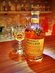Shoulder Monkey (andrewcaswell) Tags: glass monkey amber crystal blended whisky scotch shoulder hdr