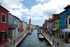 Burano Island, Italy (hexaphobic) Tags: venice houses italy colors clouds island canal nikon walls burano d60 nikond60 fishermenhouses