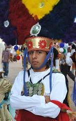 Oaxaca Dancer Danzante Zapotec Mexico (Ilhuicamina) Tags: men mexico dancers headdress oaxacan zapotec danzadelapluma