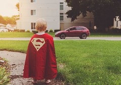 little superman (L. Paul) Tags: boy red cute morninglight son superman playtime superboy supes redcape littlesuperman fatherandsontime theredcape sony28mmf2 sonya6300 littlesupes dadssuperbuddy