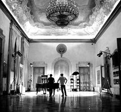 Sedie Blu (Renato Morselli) Tags: toyhorse umbrella shoes chairs sedie blu stefano cannetta teatro teatrocomunaledibologna 2016 foyer respighi arte art ombrello theatre