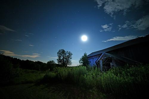 Moon and Barn No. 1
