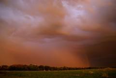 sunset rainbow (LaLa83) Tags: sunset ohio summer storm nature weather clouds outdoors golden evening rainbow backyard dusk sony july alpha 2016 a230 fairfieldcounty ruralohio beautifulohio stoutsville ohiofoothills