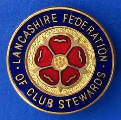 Lancashire Federation of Club Stewards - membership badge (1960s / 1970s) (RETRO STU) Tags: lancashirefederationofclubstewards nationalunionofclubstewards tradeunions tradeassociations enamelbadge
