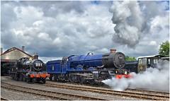 6023. On shed! .. (Alan Burkwood) Tags: gws didcot gwr king 6023 kingedwardii steam locomotive