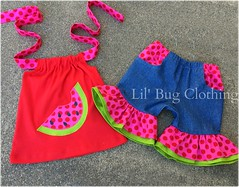 watermelon (Lil' Bug Clothing) Tags: watermelon short halter top