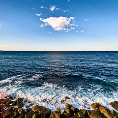 Pacific. (Bill Thoo) Tags: manly pacific ocean pacificocean sea cloud coast sydney nsw australia newsouthwales square landscape seascape sony a7rii samyang 14mm ngc