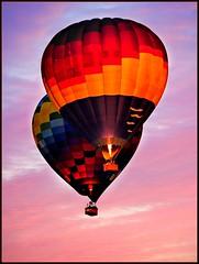 Sunset Flight (Photo's By Jerry) Tags: sunset hotair balloon