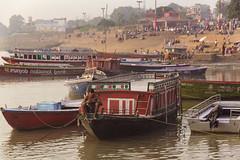 Boat man (P K Gupta VNS) Tags: boatman assi varanasi up river boats water ganga banaras