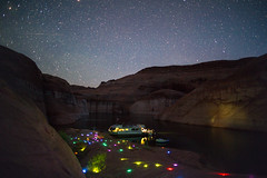 Silent Disco (keelansears) Tags: disco party lak lake powell long exposure glow sticks stars galaxy night