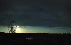 Sunset at Docklands (damdiv) Tags: clouds sunset docklands wheel pano panorama iphone iphone4s