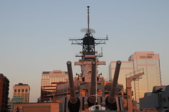 USS Wisconsin Guns (picturetakingone) Tags: norfolk virginia nauticus wisconsin battleship navy mermaid museum town point park waterside uss u s
