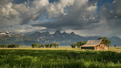 Moulton Barn (Jeremy Duguid) Tags: moulton barn grand teton national park tetons travel nature landscape landscapes clouds cloudscapes cloudy rainbow jackson hole wyoming wy west western usa mountains peaks snow rockies trees beauty sunrise dawn morning summer jeremy duguid sony a7r2