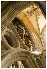Scissor Arch - Wells Cathedral (Otis335) Tags: wells cathedral somerset arches scissorarches stonework interior colour worship
