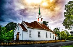 Ulstein Church (jforberg) Tags: 2016 church norway noregia norwegian color cloudy trees sky ulsteinvik forberg