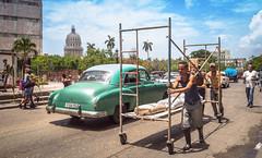 Streets of Havana - Cuba (IV2K) Tags: havana habana lahabana cuba cuban kuba caribbean street capitolio capital sony rx1 scaffold 35mm zeiss vintage classic centro