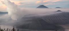 Mount Bromo at sunrise ('Barnaby') Tags: tenggermassif olympus crater sunrise omd east wwwbarnabyrobsonorg malang indonesia southeastasia mountpenanjakan travelling barnabyrobson em5 bromo travel seaofsand asia volcano eastjava