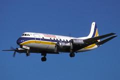 G-AOYR-1-EGKK-DEC1985 (Alpha Mike Aviation Photography) Tags: british caledonian commuter vickers viscount gaoyr london gatwick lgw egkk