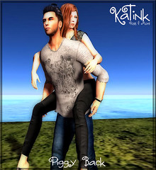 KaTink - Piggy Back (Marit (Owner of KaTink)) Tags: katink my60lsecretsale annemaritjarvinen photography 3dworlds secondlife sl 3dworldphotography salesinsl salesinsecondlife 60l 60lsales coupleposes coupleposesforsecondlife funposes