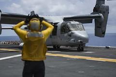 160815-N-UG095-027 (U.S. Pacific Fleet) Tags: boxarg13meu16 ussboxerlhd4 amphibiousreadygroup 13thmarineexpeditionaryunit 13thmeu usmarines usnavy cpr1 courtesycall us7thfleet flightoperations celebessea