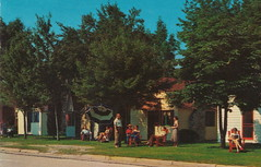 CEN Ludington MI c.1950 Colorful PARK VIEW RESORT COTTAGE COURT Family FUN Vacations Days in Mason County Writer excited about PMRR FERRY Excursion says TERRIFFIC TOILETS ON-BOARD1 (UpNorth Memories - Donald (Don) Harrison) Tags: vintage antique postcard rppc don harrison upnorth memories upnorth memories upnorthmemories michigan history heritage travel tourism michigan roadside restaurants cafes motels hotels tourist stops travel trailer parks campgrounds cottages cabins roadside entertainment natural wonders attractions usa puremichigan
