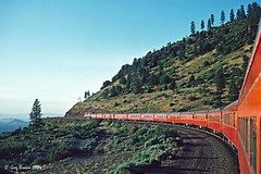 One of those Shining Moments (C.P. Kirkie) Tags: southernpacific sp spshastaroute siskiyoucounty shastaroute southernpacificoregondivision southernpacificdaylight sp4449 spdaylight mountshasta hotlum california 484 4449 train railroad passengertrain steamlocomotive