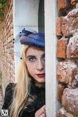 Vale - 12 (marcellomasiero) Tags: blonde blondegirl beauty beautiful lips blueeyes italian venice hat blackdress