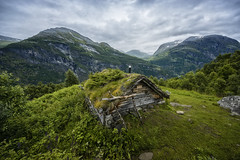 Homlongsaetra (wimvandemeerendonk, back home) Tags: greenroof clouds cloud cloudscape forest green geirangerfjord geiranger hill hills landscape mountain mountainscape nature outdoors outdoor panorama rock rocks sony sky snow tree trees norway wimvandem w