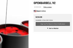 Did you miss out during our OpenBarbell V2 pre-order? Our friends at @roguefitness will have limited availability VERY soon! I suggest hitting that 'Sign Up for Back-in-Stock Notification' button for the best chance to grab one while they last. #squatsand (squatsandscience) Tags: did you miss out during our openbarbell v2 preorder friends roguefitness will have limited availability very soon i suggest hitting that sign up for backinstock notification button best chance grab one while they last squatsandscience openbarbellv2 velocitybasedtraining