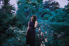 Blackhorne Promo (na blue) Tags: portrait surreal floral velvet leather fashion dreamy glow hazy