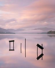 Ullswater (.Brian Kerr Photography.) Tags: ullswater ullswatersteamers sunrise jetty reflections cumbria sky lakedistrict lakes beautifulmorning mistymorning sonyuk a7rii