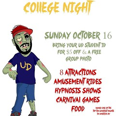 #College night at #Frightland is the  look tn! $5 off your FrightPass with your valid Student ID. #HauntedHouse #HauntedAttraction #NetDE #scary #horror #delaware (frightland) Tags: frightland haunted attractions delaware house scariest philadelphia maryland new jersey pennsylvania horror