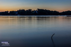 Sunset at Lake Lanier (The Suss-Man (Mike)) Tags: reflection thesussman sussmanimaging sonyslta77 gainesville georgia hallcounty lakelanier sunset longexposure slowshutterspeed