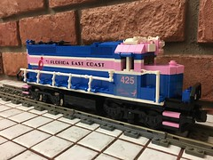 FEC Susan G. Komen foundation breast cancer GP40-2s (brickbuilder711) Tags: lego fec florida east coast gp402 moc 425 susan g komen breast cancer