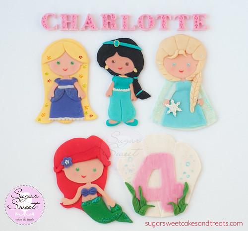 Litle Disney Princess Cake Toppers