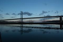 Forth Road & Rail Bridges #1 (Claire Stones) Tags: forthroadbridge forthrailwaybridge october nikon cloud clouds bluesky firthofforth forthrailbridge scotland forth