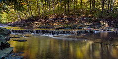 Autumn Colours in the Red Hill Creek (hey its k) Tags: autumnstuff leaves redhillvalley hamilton ontario canada ca img6888pano redhillcreek longexposure canon6d