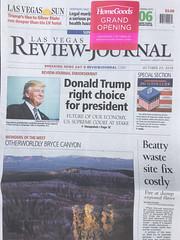 Review Journal 10.23.2016 #AdelsonNews (planeta) Tags: newspaper adelson journalism endorsement deadtrees